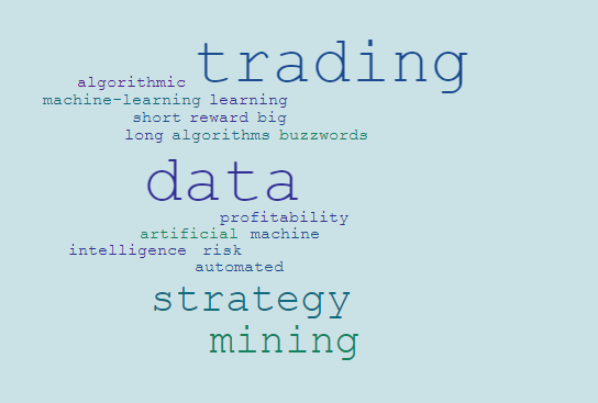 Datamining machine learning word cloud