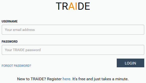 Login to TRAIDE